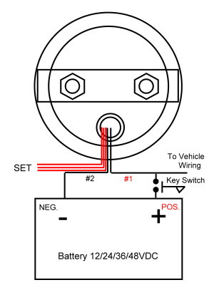 round_round_wiring2 new! 48 volt 48v club car golf cart led battery meter ebay golf cart battery meter wiring diagram at panicattacktreatment.co
